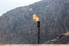 Gas-brennender Kamin lizenzfreie stockbilder