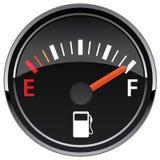 Gas-Brennstoff-Automobilarmaturenbrett-Messgerät-Vektor-Illustration stockfotos