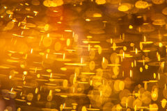 Gas bubbles in beer Royalty Free Stock Images