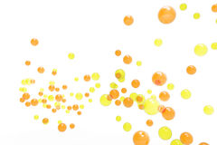 Gas bubbles yellow and orange  Isolated Backgrounds Royalty Free Stock Photography