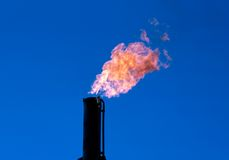 Gas Burn Royalty Free Stock Photos