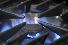 Gas burner. Close up of gas burner Stock Photography
