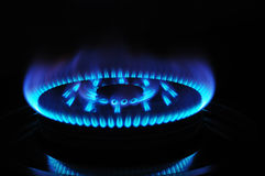 Gas burner close up Royalty Free Stock Photography