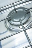 Gas burner cooker. Stainless steel gas burner cooking stove stock photo
