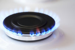 Gas Burner With Fire Royalty Free Stock Photos