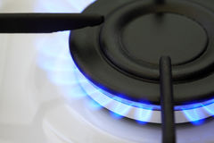 Gas Burner With Fire Royalty Free Stock Photography