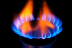 Gas burner flame Royalty Free Stock Image