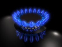 Gas burner. Flame of a Royalty Free Stock Images