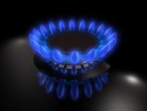 Gas burner. Flame of a vector illustration