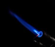 Gas burner flame Stock Photos