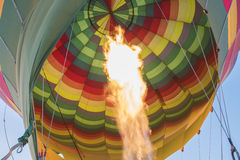 Gas burner of a hot air balloon Stock Photo