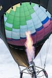 Gas burner inflates a hot air balloon Stock Photography