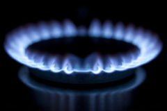 Gas burner in kitchen Royalty Free Stock Photo