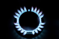 Gas burner in the kitchen Royalty Free Stock Photography