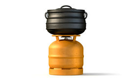 Gas Burner With Potjie Pot Royalty Free Stock Images