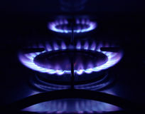 Gas burner rings Stock Image