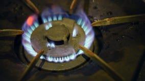 Gas Burner On Stove. Turn on Gas Burner On Stove stock video footage