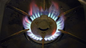 Gas Burner On Stove stock video