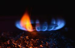 Gas burner Royalty Free Stock Photos