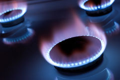 Gas burners Stock Photo