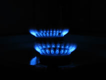 Gas burners Stock Photo