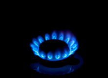 Gas burners Stock Photography