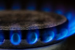 Gas burning Royalty Free Stock Photos