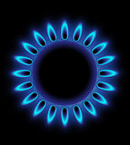 Gas burning Stock Images