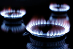Gas burning Royalty Free Stock Images