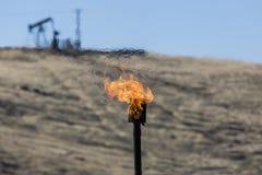 Gas Burning Chimney royalty free stock photos