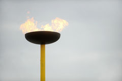 Gas burning flame Royalty Free Stock Image