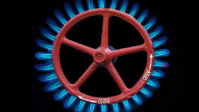 Gas burning and gas gate Royalty Free Stock Photography