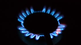 Gas burning stock footage