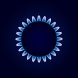 Gas Camphor on Dark Blue Background Stock Photography