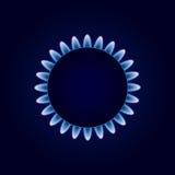 Gas Camphor on Dark Blue Background. Illustration Stock Photography