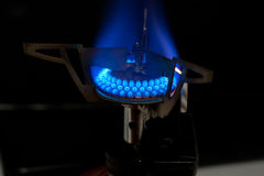 Gas camping stove Stock Image
