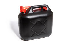 Gas can. Black gas can isolated - all sharp stock photo