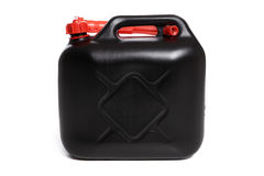 Gas can. Black gas can isolated - all sharp stock image