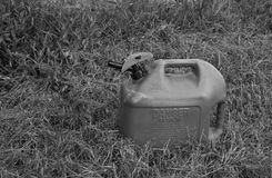 Gas Can2. A gas can done in black and white Royalty Free Stock Photos