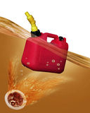 Gas Can Floating. Royalty Free Stock Photography