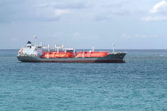 Gas cargo ship stock image