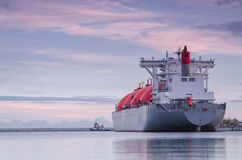 GAS CARRIER IN PORT Stock Image