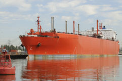Gas carrier tanker ship in the Port of Southampton UK Royalty Free Stock Photo