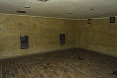 Gas chamber in Dachau Concentration Camp, Germany Stock Photos
