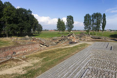 Gas chamber 3 ruins in the Auschwitz II-Birkenau Royalty Free Stock Image