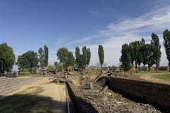 Gas chamber 2 ruins in the Auschwitz II-Birkenau Royalty Free Stock Photography