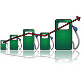 Gas chart Royalty Free Stock Photography