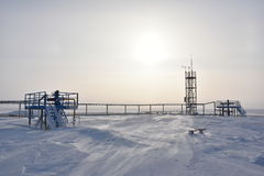 Gas cluster. In Arctic during winter Stock Photography