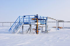 Gas cluster 2. Gas cluster in Arctic during winter Royalty Free Stock Photo