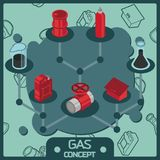Gas color isometric concept icons. Vector illustration, EPS 10 Royalty Free Stock Image